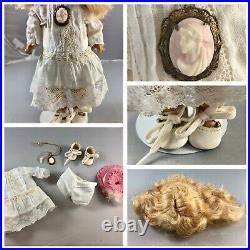10 Antique German Bisque Head Demacol Googly Doll! Elegant! Rare! 18026