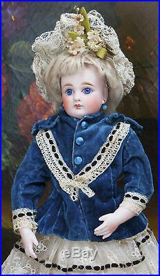12 Antique Early German Kestner Doll With Closed Mouth, Bisque Hands, Bru Look