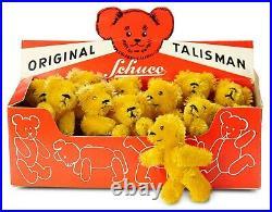 12 German Golden Mohair Miniature Talisman Teddies by Schuco in Original Box