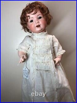 13.5 Antique BP Bahr & Proschild Bisque Baby Doll Mohair Brown Sleep Eyes #SC5