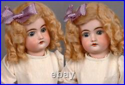 14 Kestner Antique German Bisque Child Doll, Blond Mohair Wig Compo Body LOOK