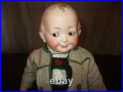 15 1/2 Antique Hertel Schwab Toddler Googly Doll Model # 172 All Original