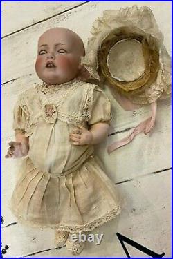 15.5 16 RARE Antique KESTNER 245 HILDA Wigged CHARACTER DOLL Baby ORIGINAL WIG