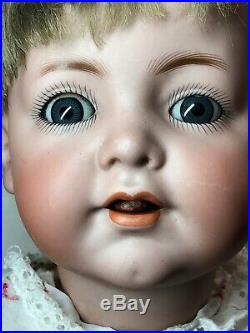 17 Antique German Simon & Halbig K Star R 128 Baby Blue Sleep Eyes Adorable SC3