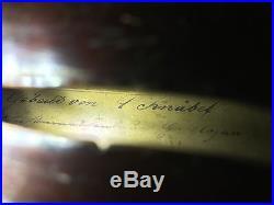 1879 Antique Vintage German Made Violin + Erich Steiner violin bow + Case