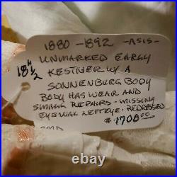 18.5 RARE Antique unmarked KESTNER open mouth