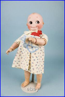 18 Kestner Kewpie Bisque Doll J. D. K. 12 with Antique Trunk and HUGE Wardrobe