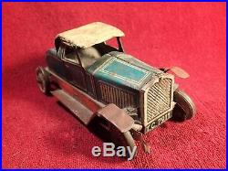 1920-s ANTIQUE VINTAGE WIND UP TIN TOY CAR DUNLOP CORD MADE IN GERMANY GERMAN