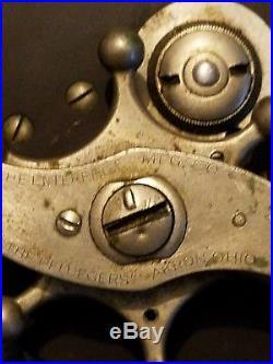 1930s ANTIQUE/VINTAGE PFLUEGER FISHING REEL ATLAPAC 6/0 GERMAN SILVER FRAME
