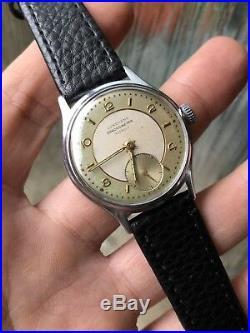 1940s Junghans Chronometer Vintage German Made Mens Watch Manual 33,3mm Bicolor