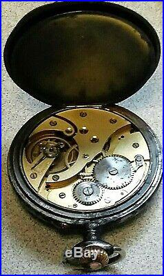 1941 German WW2 Tiger Panzer Division Commander Pocket Watch Antique