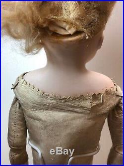 19 Antique Bisque German Alt Beck Gottschaulck Turned Head Leather Body #SF