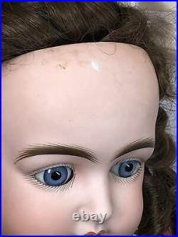 19 Antique German Kestner J 13 New Ball Jointed Compo Body Brunette Curls #L