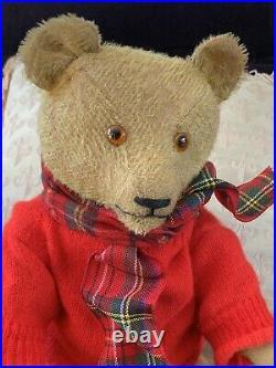 20 Antique German 1920-30 Golden Mohair Teddy Bear Benjamin - A FINE BEAR
