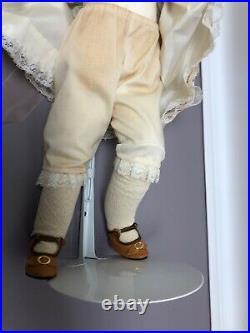 20 Antique Kestner Bisque Doll Germany #S Brown Sleep Eye Brunette Kid Body SC2