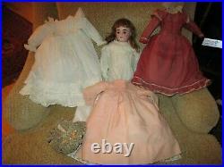 21 All Original Antique Kestner Attic Doll, Extra Original Clothing