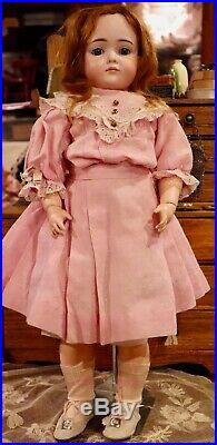 21 Antique Doll German Bisque Kley And Hahn Mold #546 Rare Art Character Doll