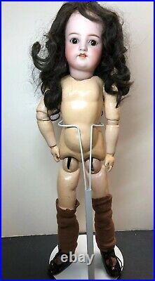 21 Antique German Simon & Halbig K Star R Bisque Doll #540 Brunette Brown Sleep