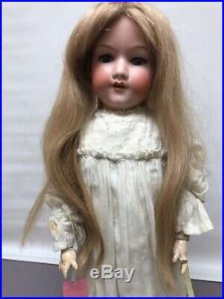 22 Antique German Bisque AM 390 Armand Marseille Walker Body Blonde #SC2