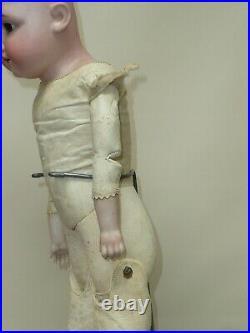 23.5 Antique Kestner Bisque Doll Germany #154 Kid Body Blonde Adorable #M