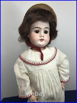 23 Antique German Bisque Doll Heinrich Handwerck 99 11 1/2 DEP Compo BJ Body #L