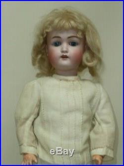 23 Antique German Kestner 168, Beautiful, Original Wig & Pate, Blue Sleep Eyes