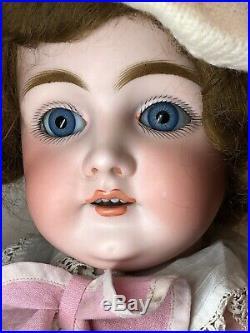 24.5 Antique Kestner Bisque Doll Germany K 146 14 Blue Sleep Eyes Beautiful SC5