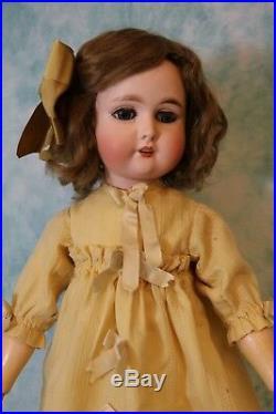 24.5 Inch Antique Adolf Wislizenus A W Special German Bisque Doll circa 1910