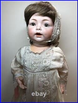24 Antique German Simon & Halbig K Star R 122 Baby Bisque & Compo Doll #Sc4