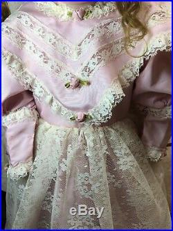 25 Antique Kestner Bisque Doll Germany #154 12 DEP Beautiful Brunette #SC5