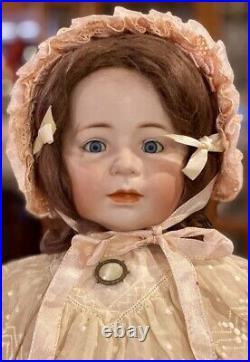 26 Antique German Bisque Simon Halbig 1488 Erika Doll withOriginal Wig