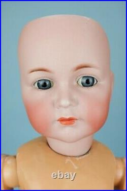 26 Mein Liebling KR 117'Emma' German Bisque Antique Doll with Great Pinafore
