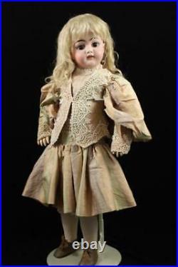 26 Simon & Halbig 1079 DEP Doll Antique German Bisque Pierced Ears S&H Mohair