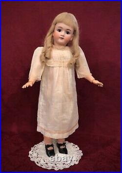 27 Antique German Bisque Doll Heinrich Handwerck Factory Original