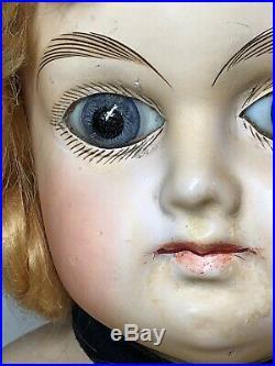 28 Antique German Papier-mâché Blue Glass Eyes Amazing With Original Picture