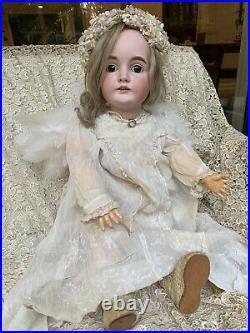 30 Antique German J. D. Kestner #164 Bisque Doll, Undamaged Head Original Body
