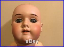 30 HEINRICH HANDWERCK 109 DEP 6 BISQUE HEAD/COMPOSITION BODY DOLL Real Hair Wig