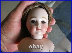 3 1/2 Tall Antique Closed Mouth Kestner Doll Head & Shoulder Plate