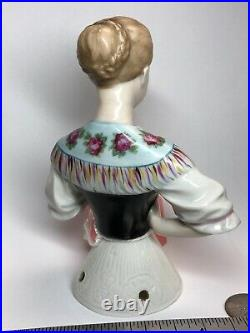 5.5 Antique German Porcelain Half 1/2 Doll Goebel Beautiful Lady In Corset #CC