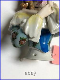 5.75 Antique German Porcelain Half 1/2 Doll Goebel Jenny Lind Beautiful #SE