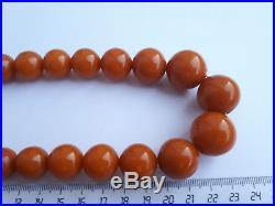 65.0 g German AMBER VINTAGE Antique Necklace Beads Butterscotch
