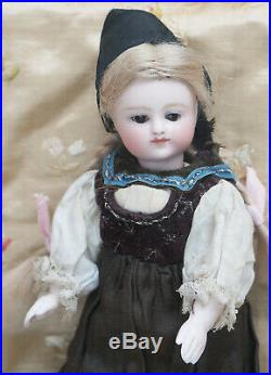 6 1/2 Rare Antique German All-Bisque Doll by Kestner with closed mouth