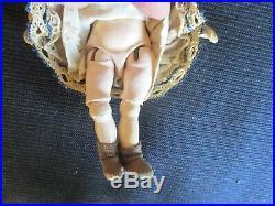 6 Antique Closed Mouth Simon &Halbig Doll, Ball Jtd. Body & Wardrobe