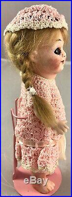6 Antique German All Bisque Armand Marseilles 323 Googly Doll! Adorable! 18089