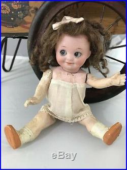 7 Antique German Bisque Head Googly Doll A M 323