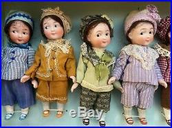 7-antique Googly Boys-in-Box-Kestner-42