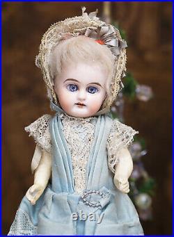 8 (20cm) Antique German Mignonette doll marked E. F. In Original Costume