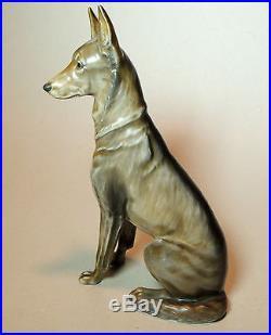 8 Antique vtg 1930s-40s Rosenthal GERMAN SHEPHERD Dog Figurine by Diller 1913