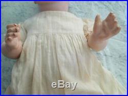 ANTIQUE BISQUE Character Baby Doll HERTEL SCHWAB 152-6. 15 Inches. Bent Limb