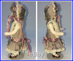 ANTIQUE GERMAN ALL BISQUE Fully Jointed Mignonette BAHR & PROSCHILD DOLL 5